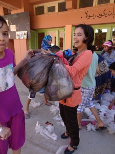 La relève de la boite de collecte à Al Massira